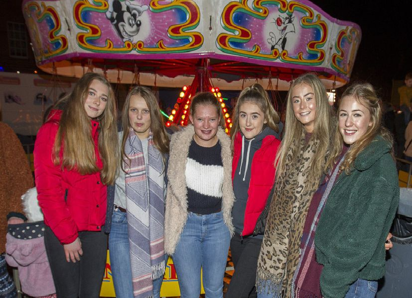 Holly Chatburn, Vicky and Alex Edgar, Mia White, Erin Lawrence and Josie Schaeli