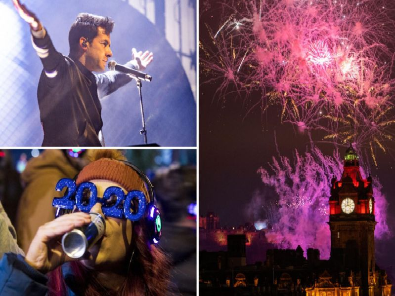 Stunning pictures show how Edinburgh celebrated Hogmanay and brought in 2020
