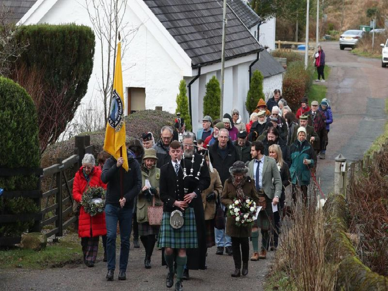Members of the public took part in a memorial service led by minister Simon McKenzie in the Scottish Highlands to mark the anniversary of the Massacre of Glencoe.