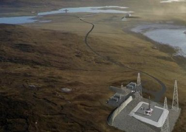 An illustration of how a future spaceport may look.