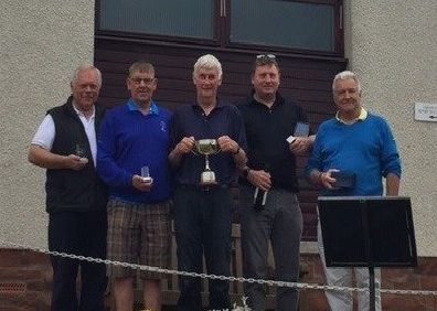 Pictured, from left, Brian Hunter, Ivor Aitchison, Matt Whiteford, Craig Douglas and Mike Lemmon.