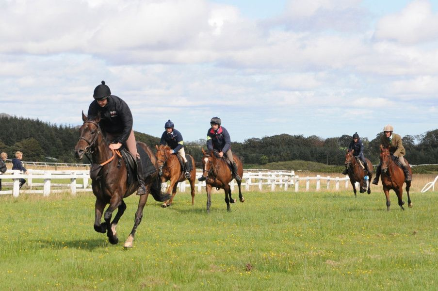 Riders enjoyed a gallop up the Gala Rig on the way home.