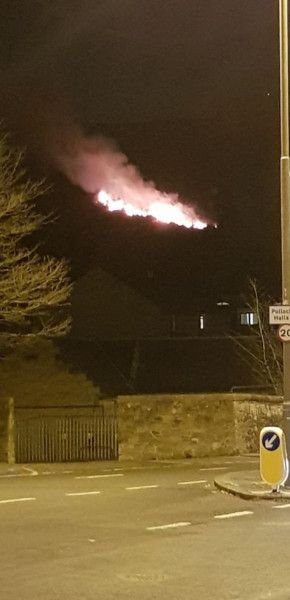Arthur's Seat Fire: Firefighters continue to tackle the