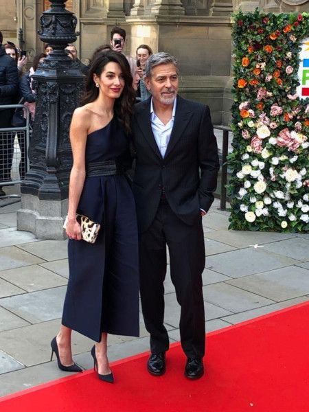George and Amal in Edinburgh for the Postcode Lottery Gala Image