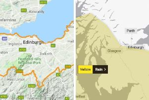Hour-by-hour Edinburgh forecast: This is when thunder and heavy rain