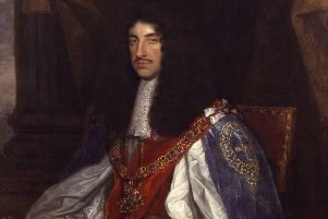 King Charles II in the robes of the Order of the Garter, painted by John Michael Wright