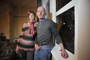 Ian and wife Sylvia Gillies of Upper Burnmouth near Eyemouth who have been having trouble with their fitted windows.