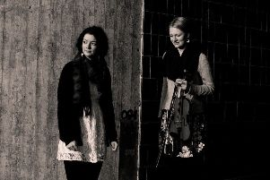 Sally Simpson and Catriona Hawksworth, well known Scottish fiddle and piano duo.