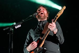 Frightened Rabbit frontman Scott Hutchison on stage in Edinburgh in December.