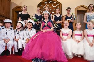 Eyemouth Herring Queen Festival inside Eyemouth Parish Church due to disclement weather. Colbie-Kate Ross 2017 Eyemouth Herring Queen.