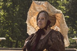 Diana Rigg as the fifth duchess of Buccleuch in ITV's Victoria.
