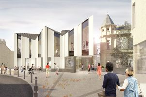 How the proposed Great Tapestry of Scotland visitor centre in Galashiels would look.