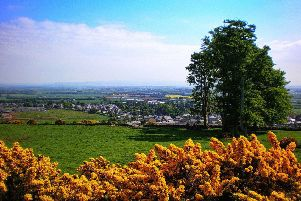 John Fowler, of Hawthorn Bank, Duns, snapped this view looking down over his hometown from the top of Duns Law.