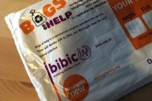 The charity bags carry the Meningitis Now and bebic logos without permission.