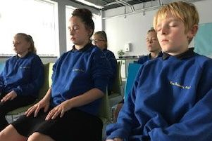 Mindfulness lessons at Duns Primary