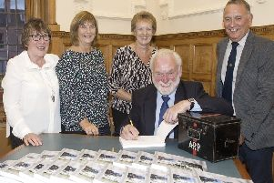 From left, Linda White, Hilda Adams, Evelyn Oliver, Charlie Robertson and Neil Hastie.