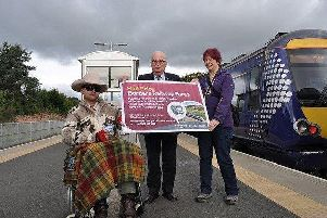 Councillor John Greenwell launching the new sight-impaired travel scheme