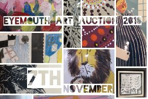 Eyemouth Art Auction collage.