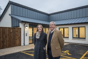 Ray Jones (chair of the board of trustees) and Jane Douglas (executive care director) at the new Queen's House dementia facility in Angraflat Road, Kelso.