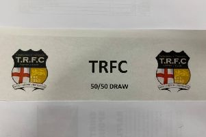 The 50/50 tickets on offer at Tweedmouth Rangers