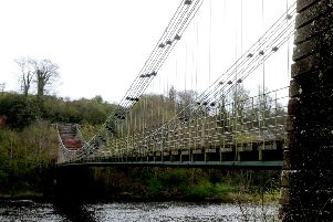 Work is being done on the Union Chain Bridge in preparation for the next stage of the National Lottery Fund application