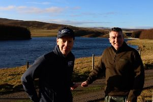 Archie Macgregor, Scottish Water's land and property development manager with James Royston at Whiteadder Reservoir.