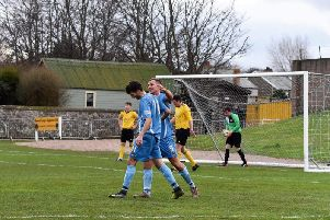 Tweedmouth celebrate against Peebles (All pics with credit to Tweedmouth Rangers)