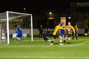 Cameron Blues celebrates doubling Berwick's lead (ALL PICS: Alan Bell)