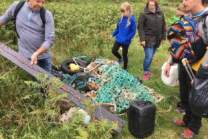 Some of the litter cleared off  Linkim Shore last year.