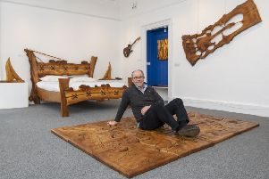 Like a jigsaw, the pieces fitted together when Robin woke up in hospital and he decided to follow his dreams. Now his work is on show at Hawick Museum. (Pic: Phil Wilkinson)