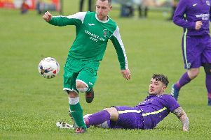 Action from Chirnside's narrow defeat. (Pics: Bill McBurnie)