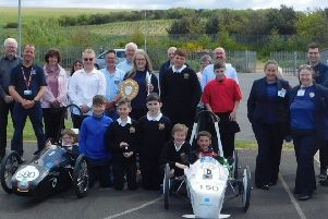 Eyemouth High School's successful green power engineering team.
