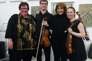 Alison Coates, Ross Hume, Lucy Cowan and Alex Prentice at the Watchtower, Berwick where a concert showcased local musical talent.