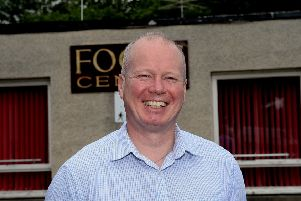 Making headway...Rogan Grant, chairman of the Borders charity, is hoping to build strong foundations at the Focus Centre in Galashiels before expanding. (Pic: Alwyn Johnston)