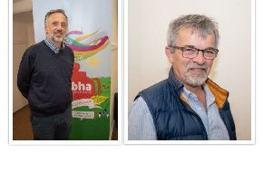 Left: Jim McDevitt who has been appointed as the new Convener of BHA's Board of Trustees and (right) new Board member Norrie MacPhail.