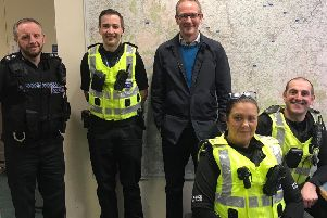 John Lamont MP with local community police officers