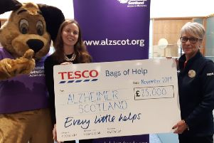 Alzheimer Scotland bags £25k from Tesco thanks to votes from shoppers