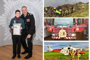 Schoolboy receives Chief Officer Commendation for heroic Eyemouth coastal rescue