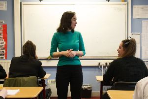 The number of teachers working in Scotland's schools has risen in the last year, but this has been balanced out by a rise in the number of pupils.