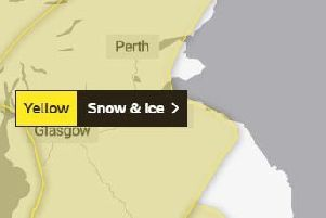 Yellow warning for snow and ice across the Scottish Borders
