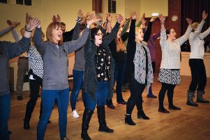 You can dance, you can jive... the group get stuck into rehearsals ahead of the show.
