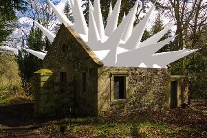 One of Steve Messam's creations in the Mellerstain House estate