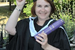 Emma-Jayne Jones pictured on her graduation day