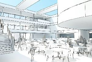 An artist's impression of the new Peterhead Academy campus