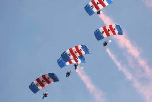 The crowning of the Scottish Week Buchan Queen on Saturday, July 20 is being carried out by The Falcons display team who will be parachuting in especially for the event
