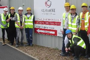 Some of the students pictured at the Broch site.