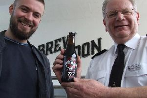 Cammy Bowden of Brew Toon with Alex Geddes of the Peterhead Prison Museum