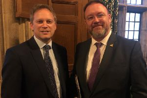 David Duguid MP with UK Transport Secretary Grant Schapps.