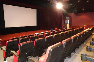 The interior of the Isle of Bute Discovery Centre Cinema - venue for 'Cailleach Beira - Queen of Winter'.