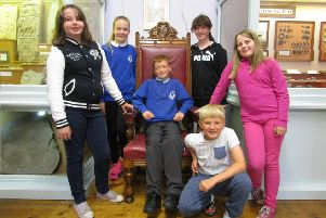 Pupils from North Bute Primary School at Bute Museum.